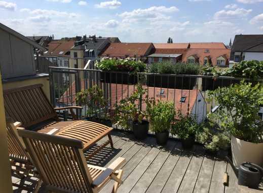 Dachterrasse mitten in der Neustadt