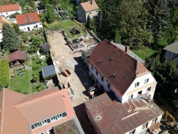 Luftbild auf das Grundstück