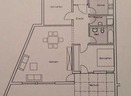 Helle 3-Zimmer-Wohnung mit Balkon in zentraler Lage von Dietzenbach