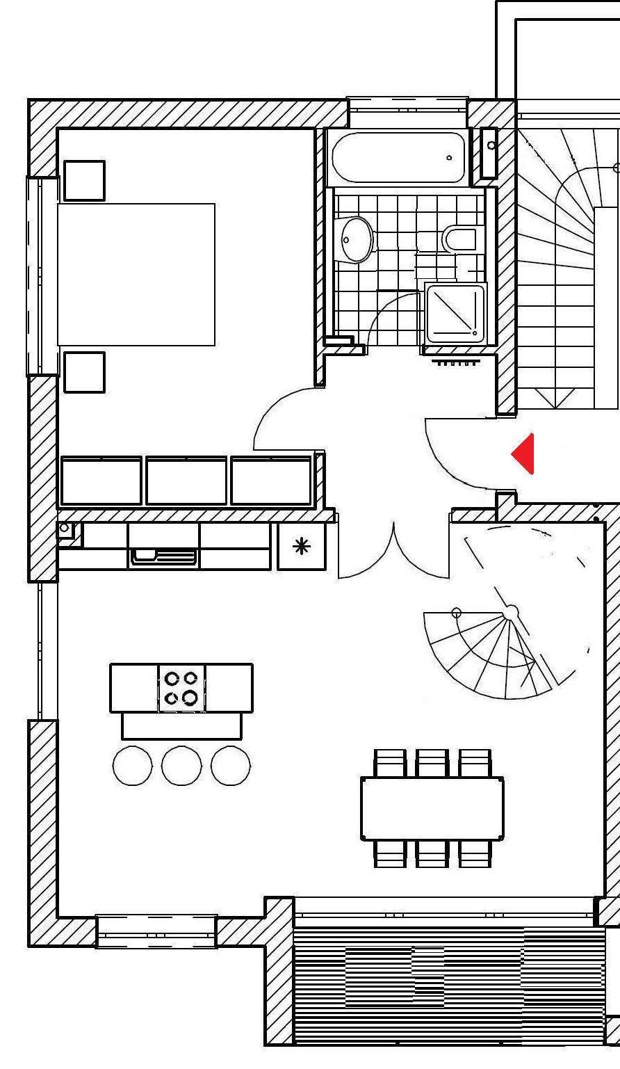 Moderne 111 qm Wohnung auf zwei Etagen im Zentrum von Erlangen in Erlangen Süd (Erlangen)
