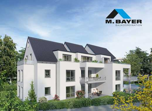 Exklusive 3,5-Zimmer Wohnung mit Terrasse und Gartenanteil in idyllisch ruhiger Lage