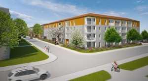 MÜNCHEN-MODELL-1-Zimmer-Wohnung mit Kochnische im Harthof in Am Hart