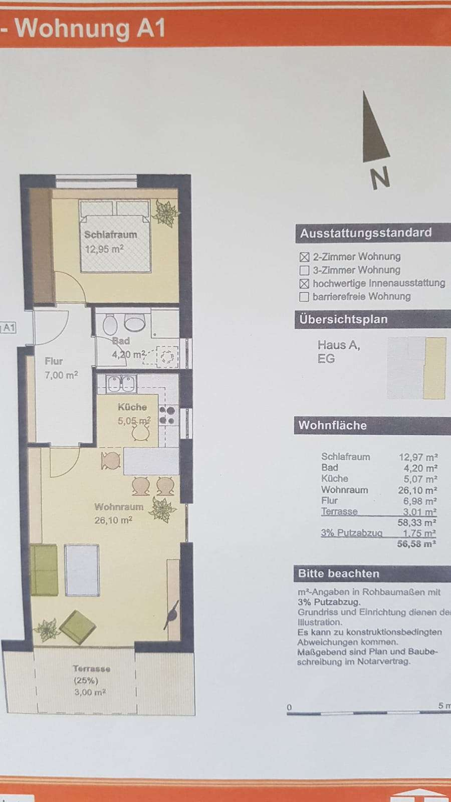Ruhige, neuwertige 2-Zimmer-Wohnung im Zentrum Erdings in Erding