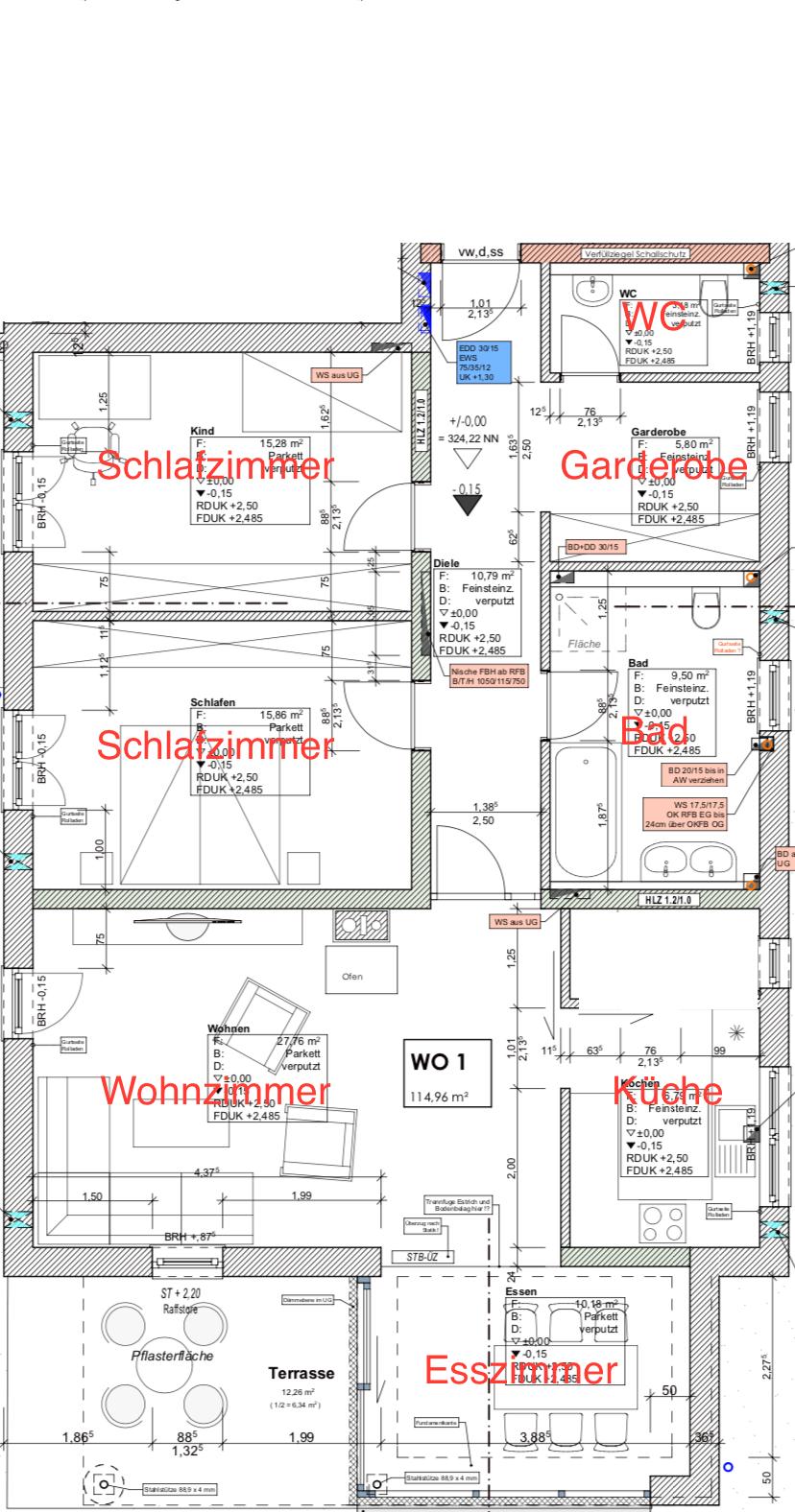 Neuwertige 3,5-Zimmer-EG-Wohnung mit Terrasse in Straubing (zentrumsnah)