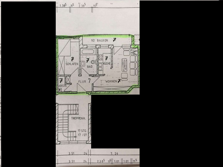Zwei Zimmer Wohnung in Baar-Ebenhausen, Einbauküche vorhanden in