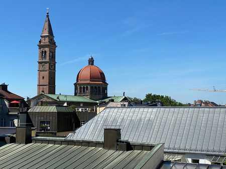 Ruhiges 1-Zi. App., teilmöbliert, über den Dächern von Schwabing, nh. Uni,  (U3/U6) in Schwabing-West (München)
