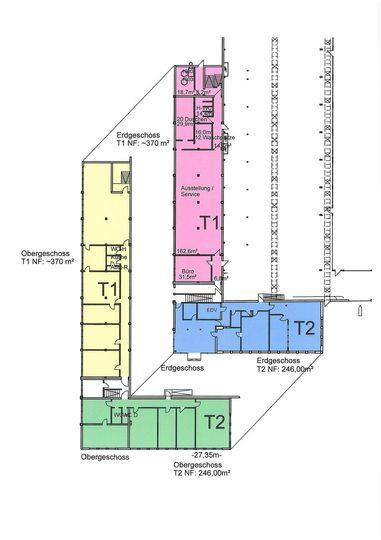 Grundriss Bürogebäude T1-T2