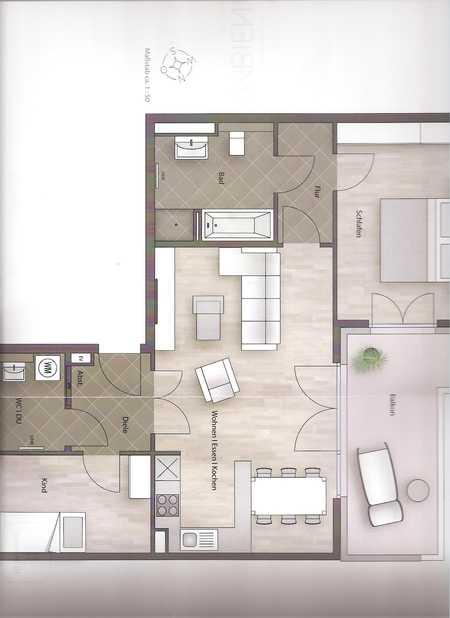 Exklusive, neuwertige 3-Zimmer-Wohnung mit Balkon in Bogenhausen, München in Bogenhausen (München)