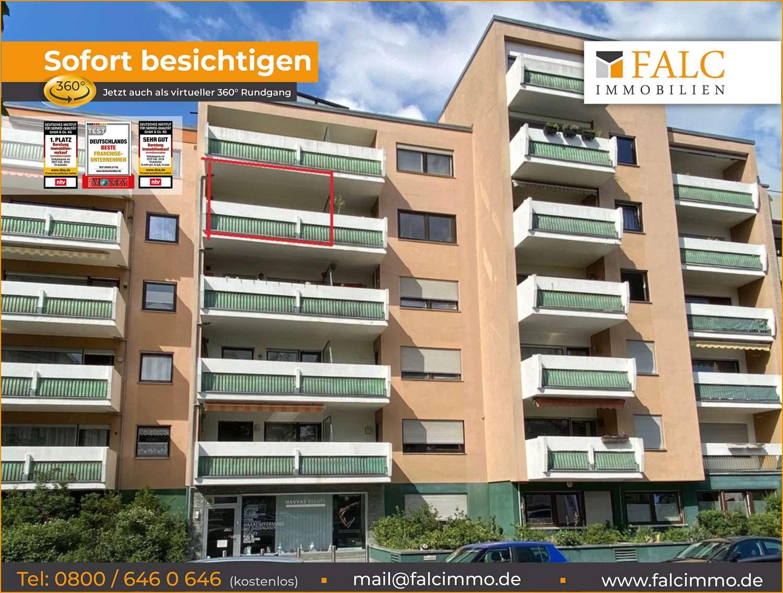 Falc-Nürnberg Einzimmerapartment mit Balkon und Küche in der Fürther Südstadt in