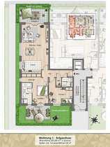 Erdgeschoss-Wohnung mit 2 Terrassen und