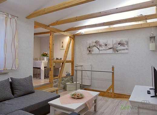 Erfurt: Gispersleben, neu möblierte Wohnung über 2 Etagen, ruhige Lage, Dachbalkon, 2x Bad/WC, WL...