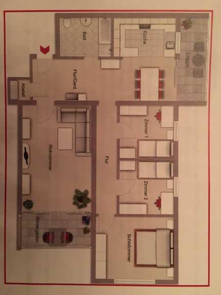 Vollständig renovierte 4-Zimmer-Wohnung mit Balkon in Marktheidenfeld in Marktheidenfeld