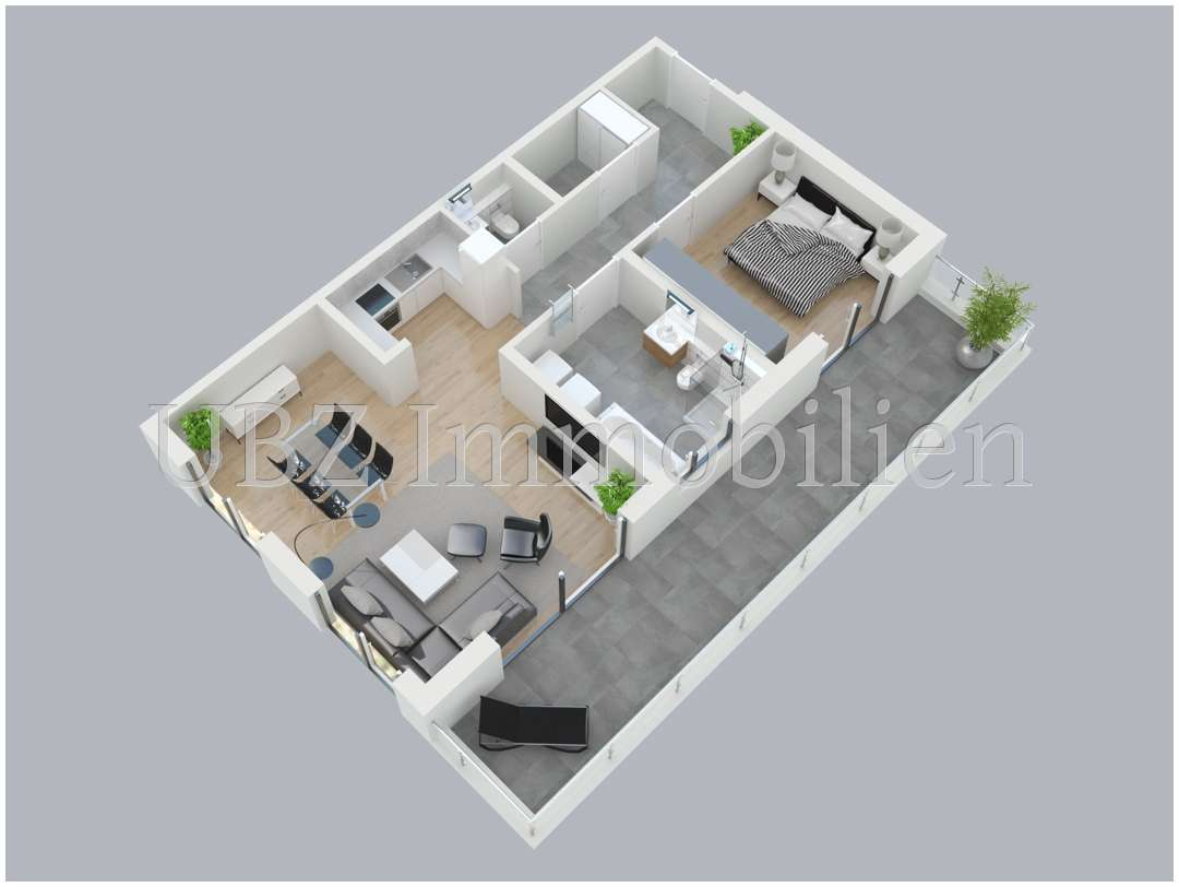 Verwirklichen Sie Ihren Traum vom Wohnen - Neubau-2-Zimmerwohnung an den Obernauer Mainhöhen