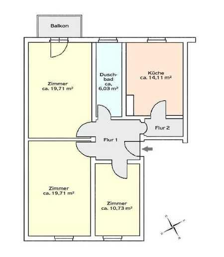 Renovierte 3-Zimmer-Wohnung in Bad Reichenhall in Bad Reichenhall