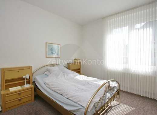 ZeitwohnKontor: Komplett möblierte 2-Raum-Wohnung in guter, ruhiger LLage mit giuter Anbindung, Gart