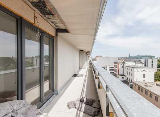 Erstbezug! Dachgeschoss in Mitte: 2 Terrassen, 3 Zimmer, Bad, Gäste-WC (VH DG rechts)