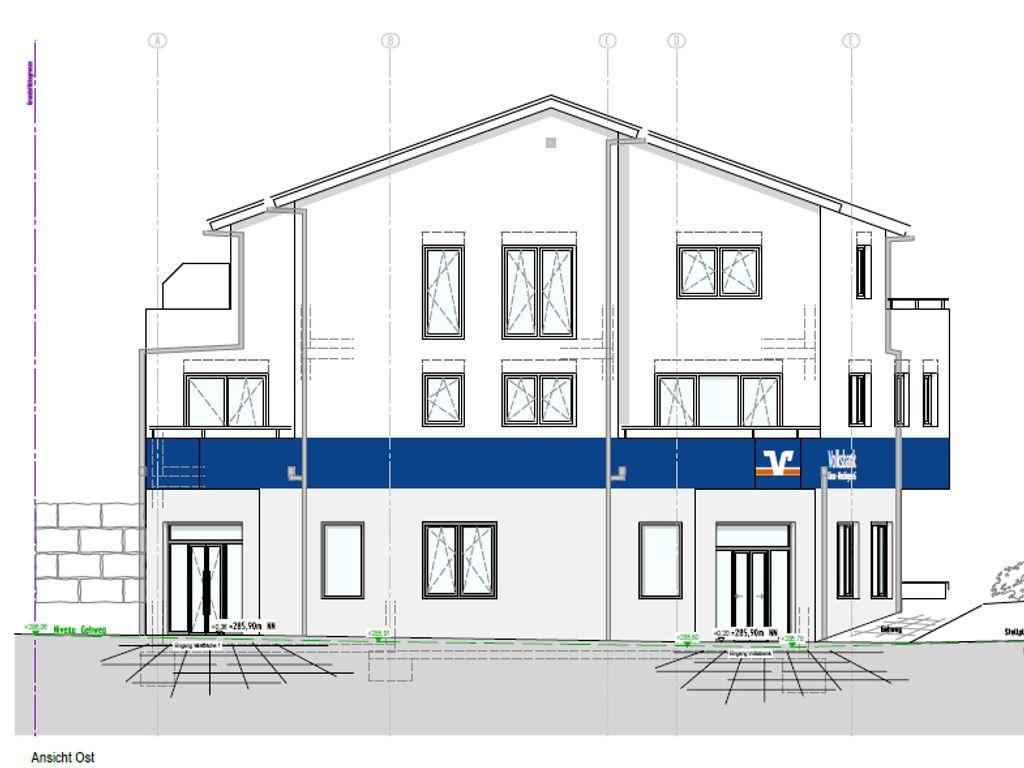 Ansicht Neubau Wohn-und Geschä