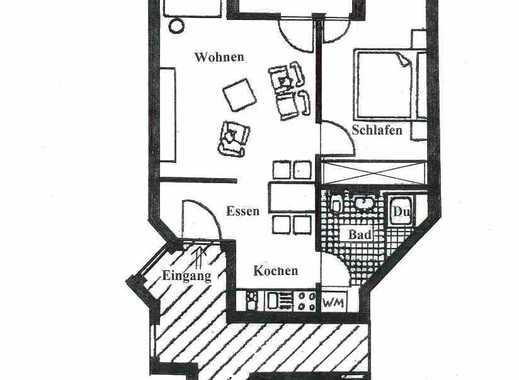 2 Zi.-WHG neuwert. renoviert, mit Balkon u. Garage !