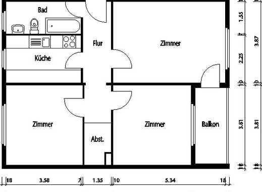 Sanierte und schöne 3-Zimmerwohnung mit Wintergarten