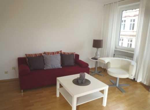 Exklusive, voll möblierte, gepflegte 2-Zimmer-Wohnung mit Balkon und EBK in Frankfurt