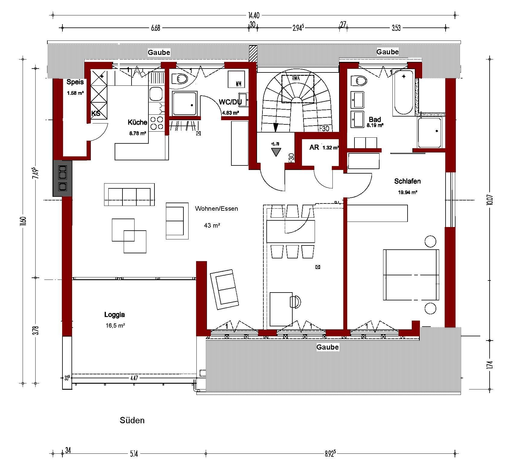 Lifestyle in Bestlage, Erstbezug, modern, individuelle 103,5m², DG-2-Zi-Whg. in Altdorf