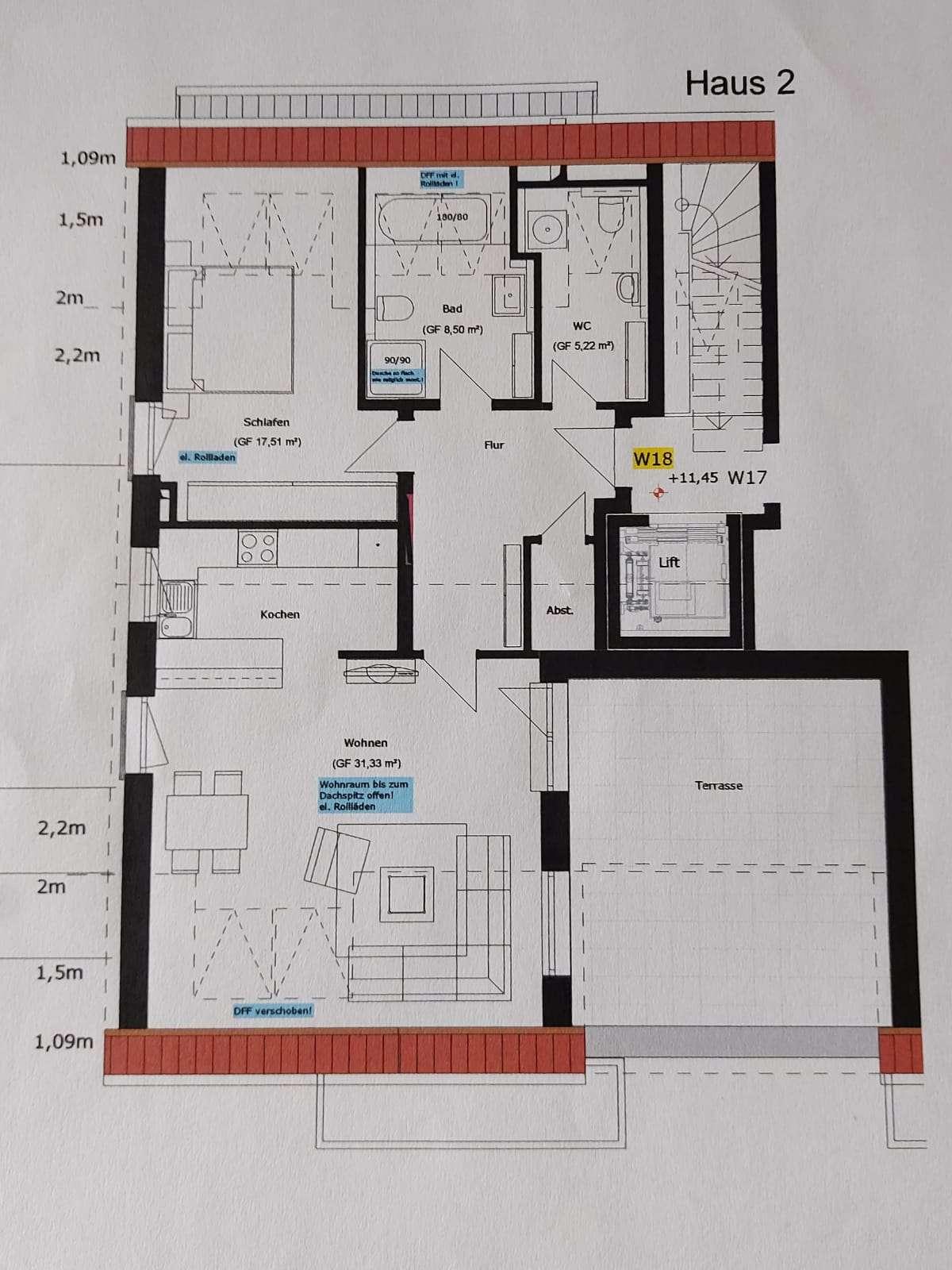 Wunderschöne, moderne 2-Zi-DG-Wohnung mit großer Dachterrasse in