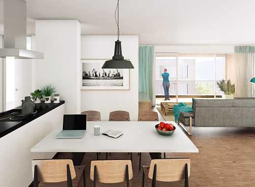 Urban und doch so entspannt! Großzügige 2-Zimmer-Wohnung mit Wasserblick im Zollhafen Mainz