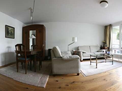Modernisierte 3-Zimmer-Gartenwohnung mit Balkon und Einbauküche in ...