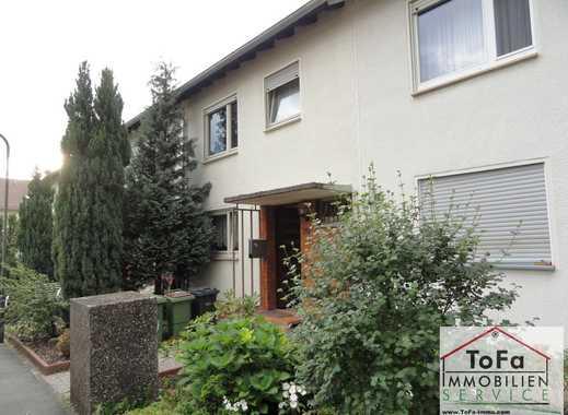 ToFa: sanierungsbedürftiges RHM mit Terrasse + Garten + Stellpl. + Garage + voll unterkellert