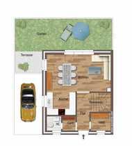 Neubau-Doppelhaushälfte mit 5 ZKB in