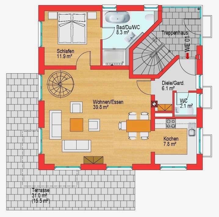Außergewöhnliche Wohnung über zwei Etagen // Hochwertige Ausstattung // Gute Infrastruktur in Laim (München)