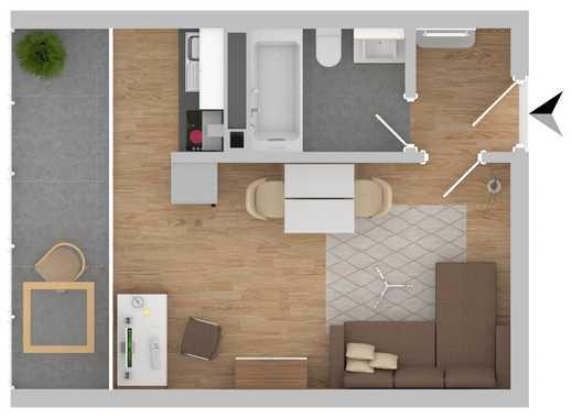 Helle 1-Zimmer Wohnung in Obersendling!