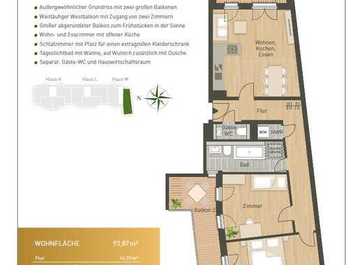 Erstbezug Neubauwohnung mit Einbauküche, Gäste-WC und 2 Balkonen in Schöneberg/Wilmersdorf