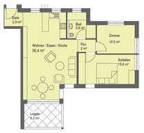 Bild Baugenehmigung erteilt! 3-Zimmer-Wohnung mit Aufzug