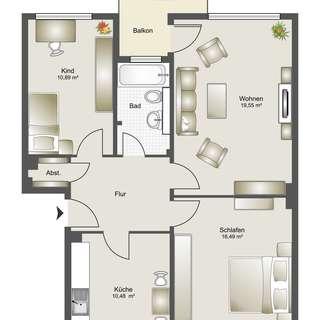 Zusatzbild: Moderne Wohnung mit Balkon! - Mietwohnung Bauverein zu Lünen