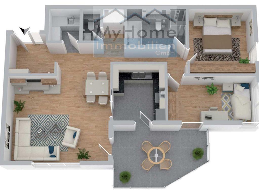 Ansicht Wohnungstyp 4 Haus 1