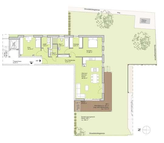 Schöne Garten-Wohnung in Stöckheim.