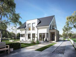 modulares einfamilienhaus mit walmdach. Black Bedroom Furniture Sets. Home Design Ideas