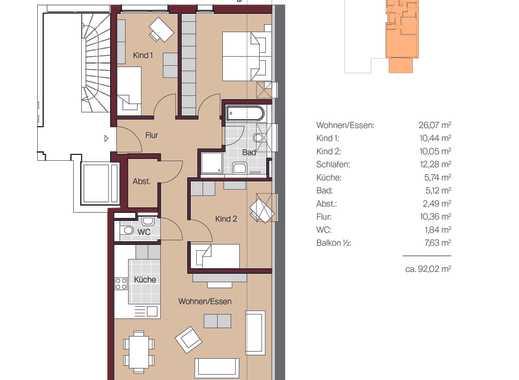 4 Zimmer Dachgeschoss Wohnung mit Balkon in Metzingen Stadtmitte