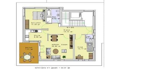 Penthouse - 3 Zi. mit 93,8m²<