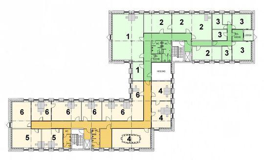 Mietfläche 1-6 (ausser 3)