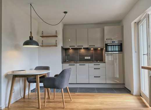 Komplett sanierte und hochwertig möblierte 2-Zi.-Wohnung mit Terrasse + Garten