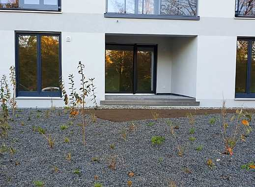 Erstbezug mit Balkon: exklusive, geräumige 1-Zimmer-Erdgeschosswohnung in Aubing, München