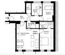 Familienwohnung mit 4 Zimmern