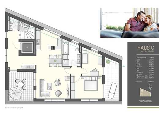 Für Sonnenhungrige und Penthouseliebhaber mit Lift direkt in die Wohnung