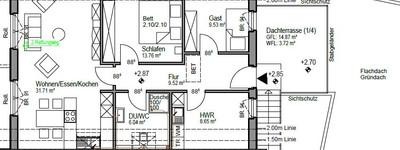 Schöne 3-Zimmer-DG-Wohnung, mit Dachterrasse in Hille, Erstbezug