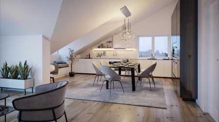 Neue, großzügige,  80qm DG-Wohnung m. Einbauküche, Balkon, Gäste-WC, Tiefgarage in Höhenkirchen-Siegertsbrunn