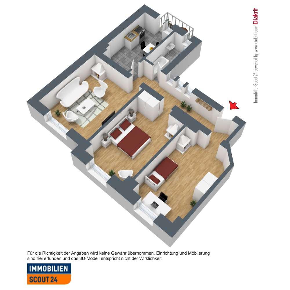 WG-Drei-Zimmer-Wohnung mit Balkon in Hummelstein (Nürnberg)