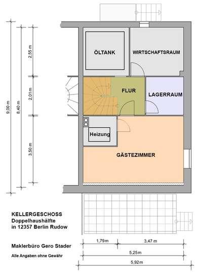 Gepflegte Doppelhaushälfte im Rudower Blumenviertel - Bild 32