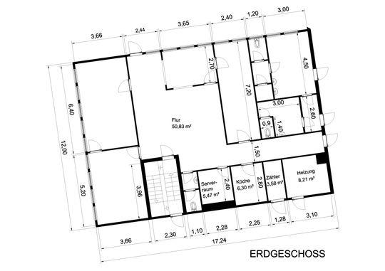 Grundriss Bürogebäude EG